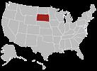 South Dakota map